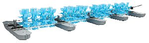 20 Feet Long Arm Paddle Wheel Aerator