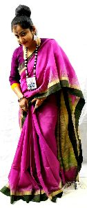 Handloom Cotton Silk Ghicha Pallu Saree