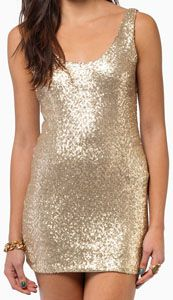 Short Gold Sequin Party Dress
