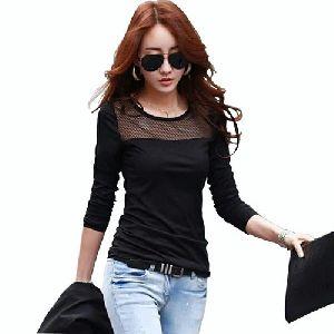 Black Fancy Ladies T-shirt