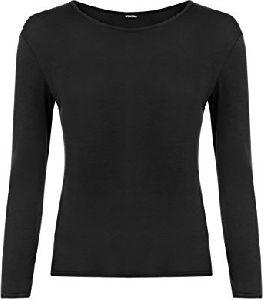 Cotton Full Sleeve Ladies T-shirt
