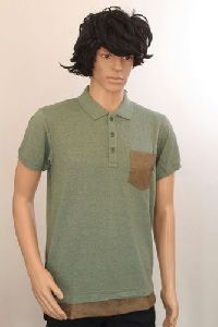 Cotton Plain Men Polo T-shirt