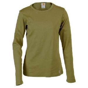 Ladies Plain Full Sleeve T-shirt