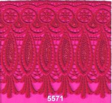 Zari Sequence Lace Polyester Lace Guipure Lace Gpo Lace