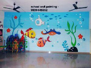 Nursery Class Wall Decoration Art Service