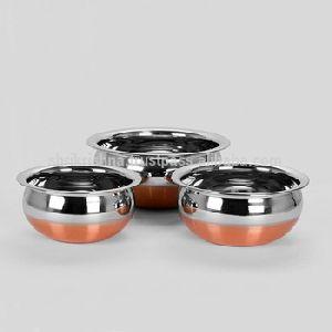 Copper Base Serving Bowl