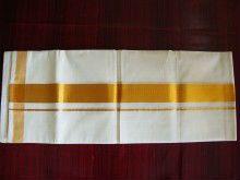 Cotton Dhoti Lungi With Zari Border