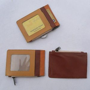 Beige color leather front with multiple color leather and pockets