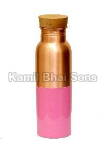 Copper Bottle With Wooden Cape