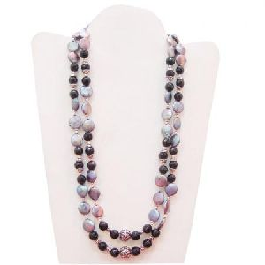 Grey Pearl 925 Sterling Silver Handmade Beaded Necklace