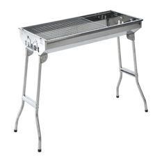 Outsunny 35 Inch Stainless Steel Portable Folding Charcoal Bbq Grill