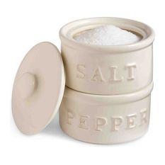 Stacked Salt Pepper Cellar Set