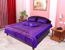 Silk Embroidery Girl Design Bed Cover