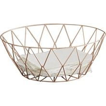 Copper Geometric Office Stationary Wire Mesh Basket