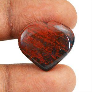 Untreated Bloodstone Gemstone Natural Heart Shape