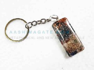 Copper And Aluminium Layer Orgonite Key Chain