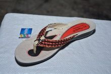 Beautiful Party Wear Designer Pu Flat Tan Slipper