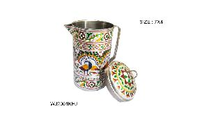 Meenakari Steel Water Jug