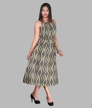 Girl Cotton Sanganeri Print Halter Dress