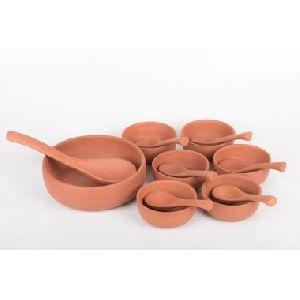 Earthenware Pudding Set Serving Bowl
