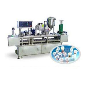 Fully Automatic Plastic Cup Filling And Sealing Machine