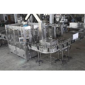 Fully Automatic Soft Drinks Filling And Capping Machine