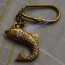 Key Ring Paper Weight Brass Fish Key Chain