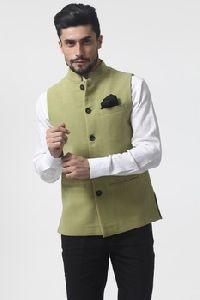 Mens Pure Linen Nehru Jacket