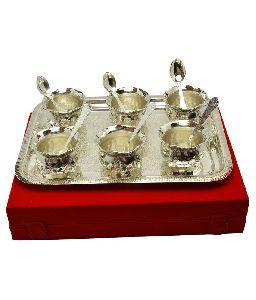 Antique Bowl Tray & Spoon Set