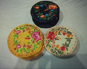 Embroidered Round Gift Boxes