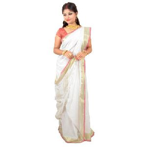 Cotton Zari Border Saree