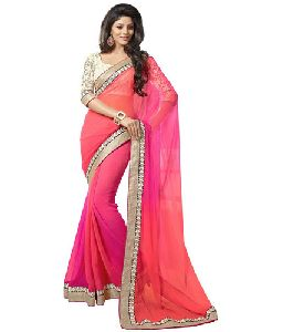 Plain Georgette Saree
