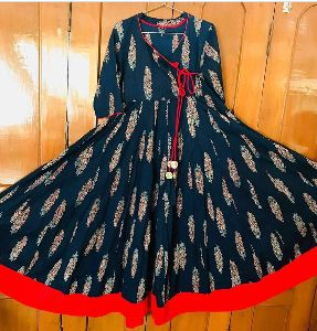 Full Long Cotton Print Kurtis