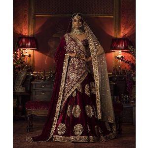 Heavy Bridal Lehenga For Bride