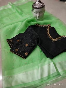 Beautiful Organza Sarees With Readymade Silk Designer Blouse