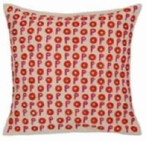 Embroidered Two Color Cushion Cover