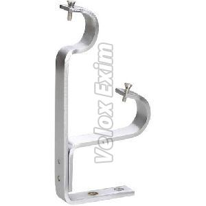 SS Double Curtain Rod Support Bracket
