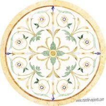 Round Marble Inlay Medallion