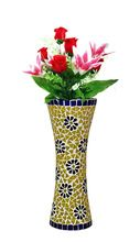 Home Decor Centerpieces Colorful Glass Mosaic Flower Vase