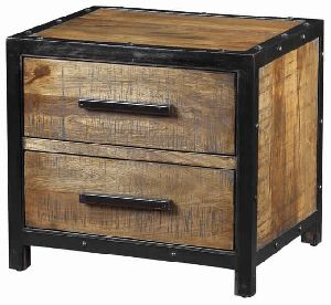 Industrial Bed Side Table