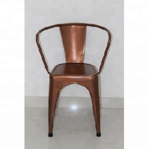 vintage iron metal antique copper plated cello design dining chair