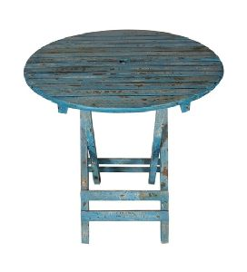 Distressed Solid Mango Wood Outdoor Table