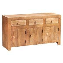 Indian Solid Wooden Furniture Three Door Three Drawer Sideboard
