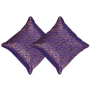 Purple Throw Pillow Covers Silk Indian Decorations Home Set