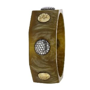 Shalinindia Fashion Brown Resin Bracelet