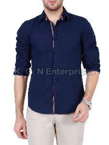 Mens Blue Casual Shirt