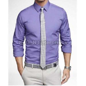 Mens Plain Purple Formal Shirt