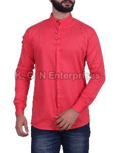 Mens Red Casual Shirt