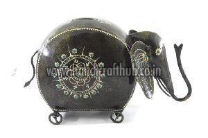 Iron Handmade Elephant Shaped Coin Boxes