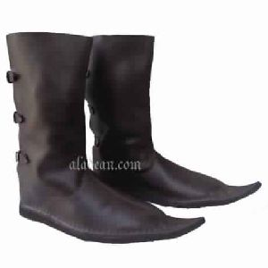 Medieval Footwear Long Boot